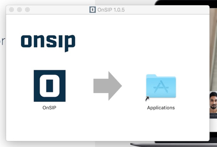Drag the 'OnSIP' icon to your Applications folder