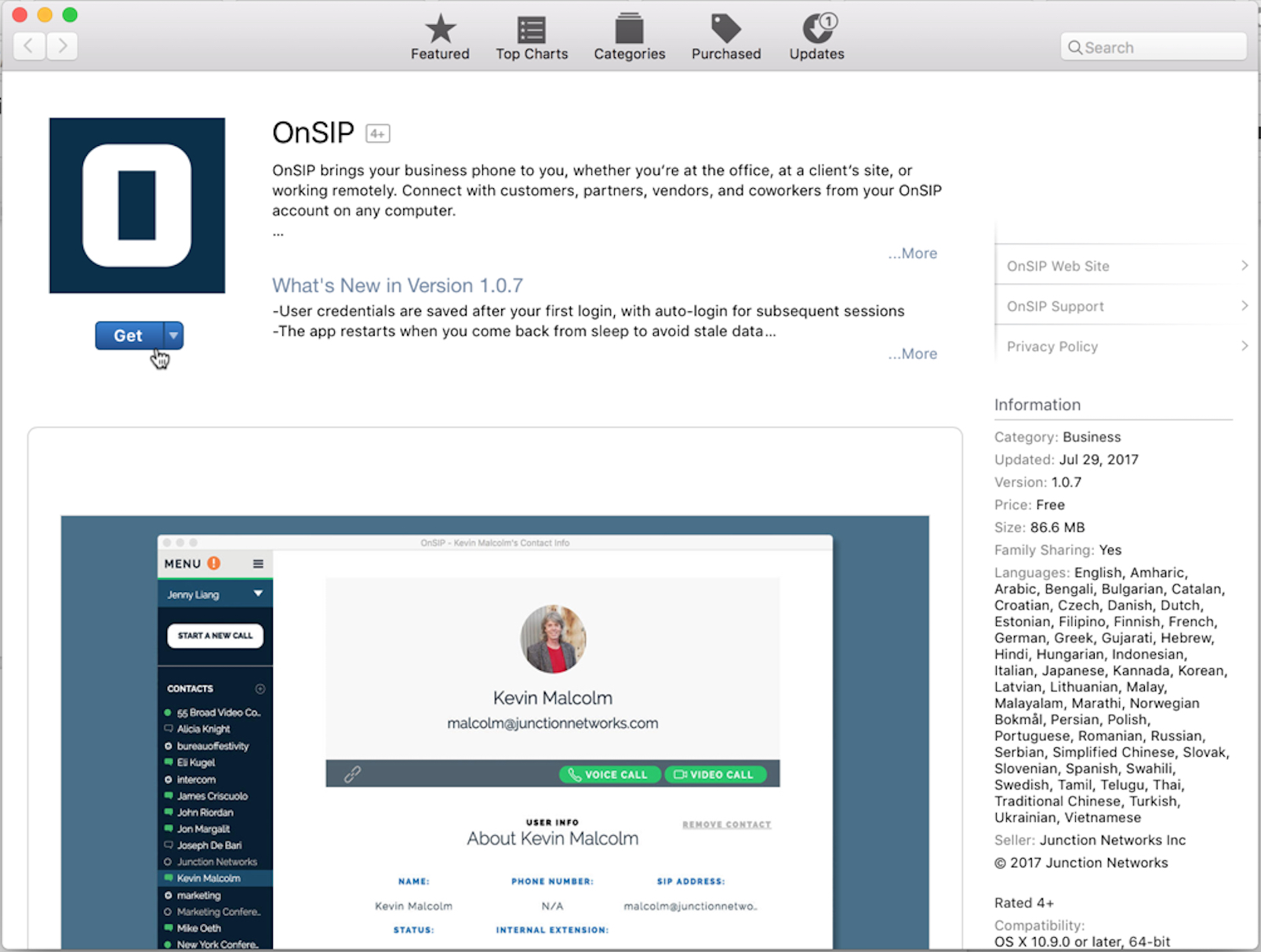 OnSIP app in the Mac App Store