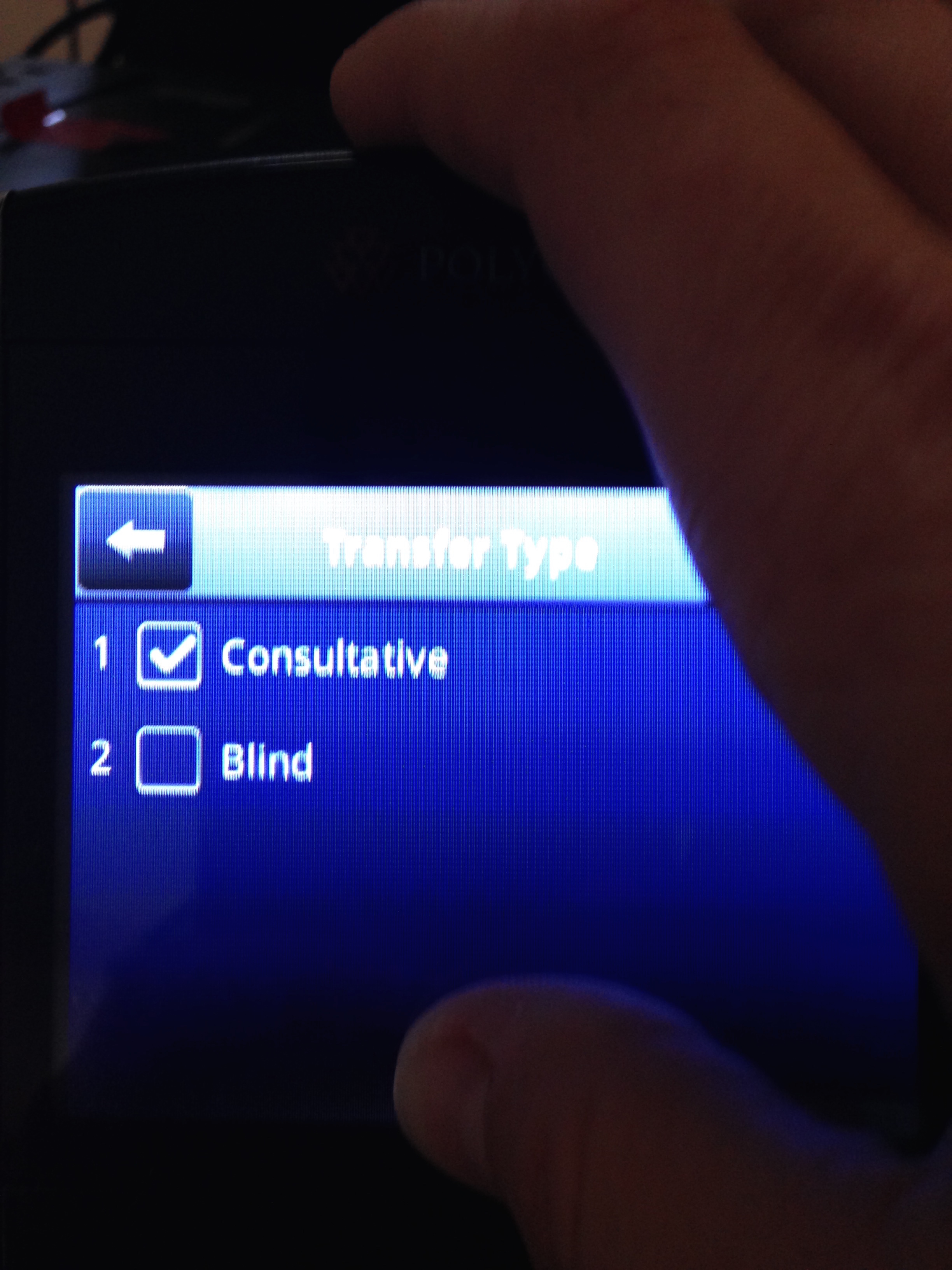 Select blind option