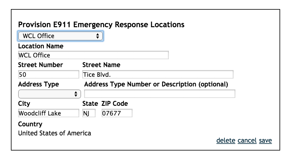 Save emergency response location