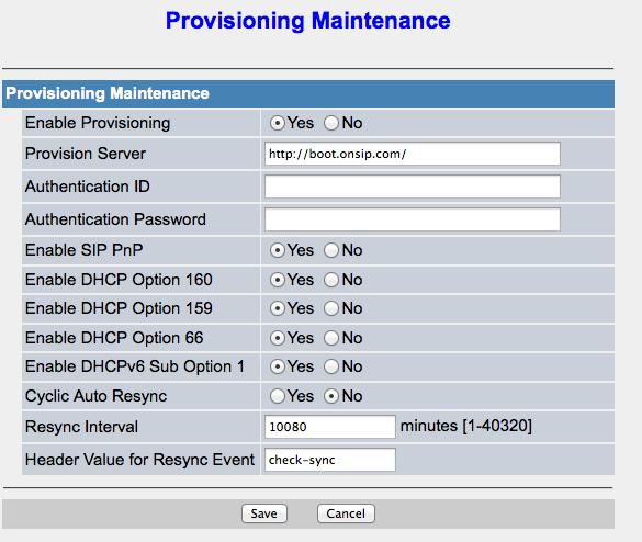 Panasonic Boot Server – OnSIP Support