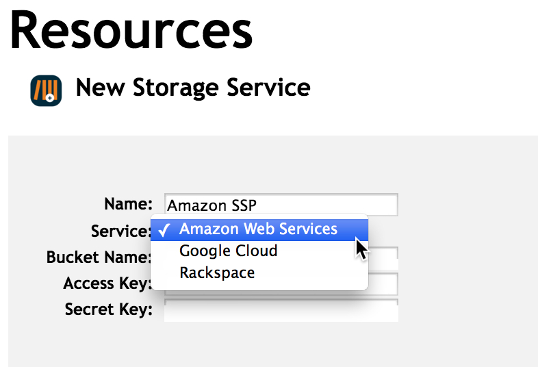 Adding a Storage Service Provider to your OnSIP account
