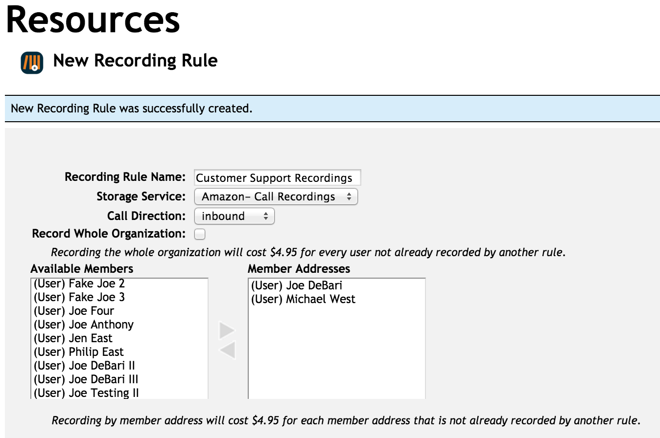 Creating a Call Recording Rule in your OnSIP account