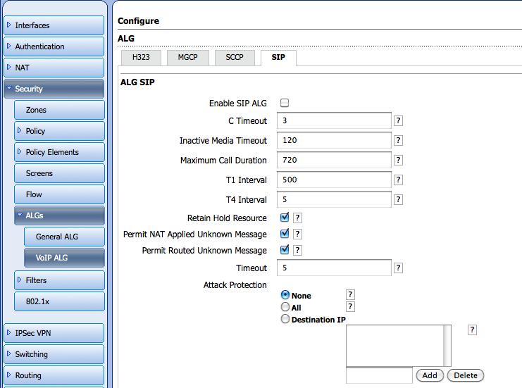 Juniper SRX100 / SRX200 / SRX220 (JunOS) – OnSIP Support