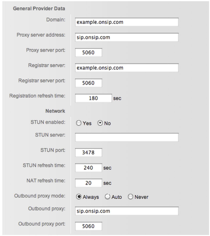 Gigaset S675 – OnSIP Support