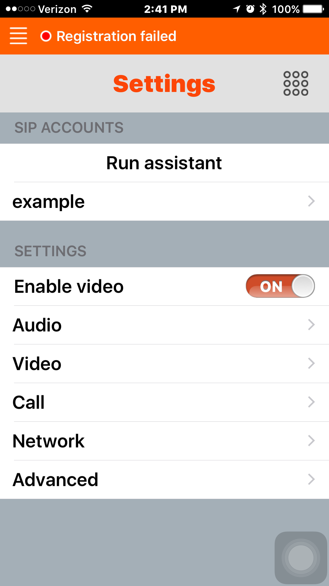 Linphone for iPhone – OnSIP Support